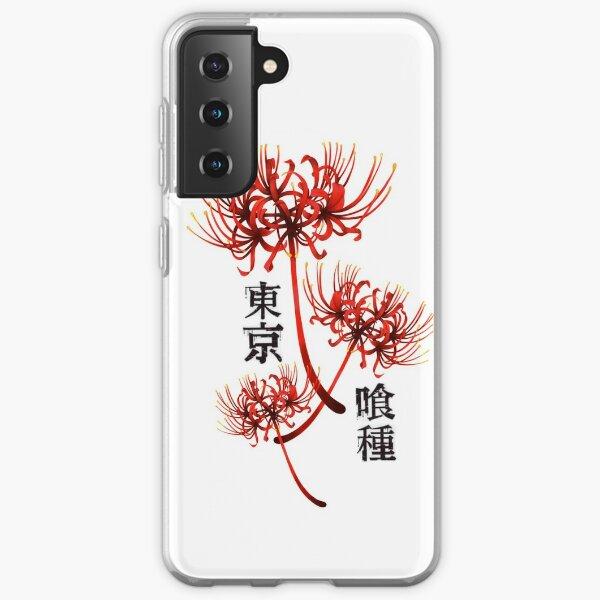 Araignée rouge lilly kanji 3 - tokyo ghoul Coque souple Samsung Galaxy