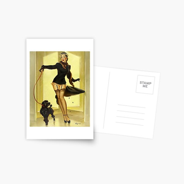 Vintage Gil Elvgren Pin Up Girl Postcard