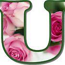 Letter U Rose Monogram by gretzky