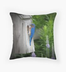 """""""Inspecting the Homestead"""" Throw Pillow"""