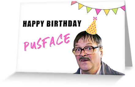 Freitagabendessen, Herzlichen Glückwunsch zum Geburtstag, britisches Fernsehen, Geplänkel, Wortspiele, gute Stimmung von Digital ArtJunkie