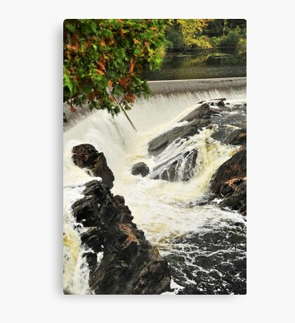Waterfall - Fort Colunge, Quebec Canvas Print