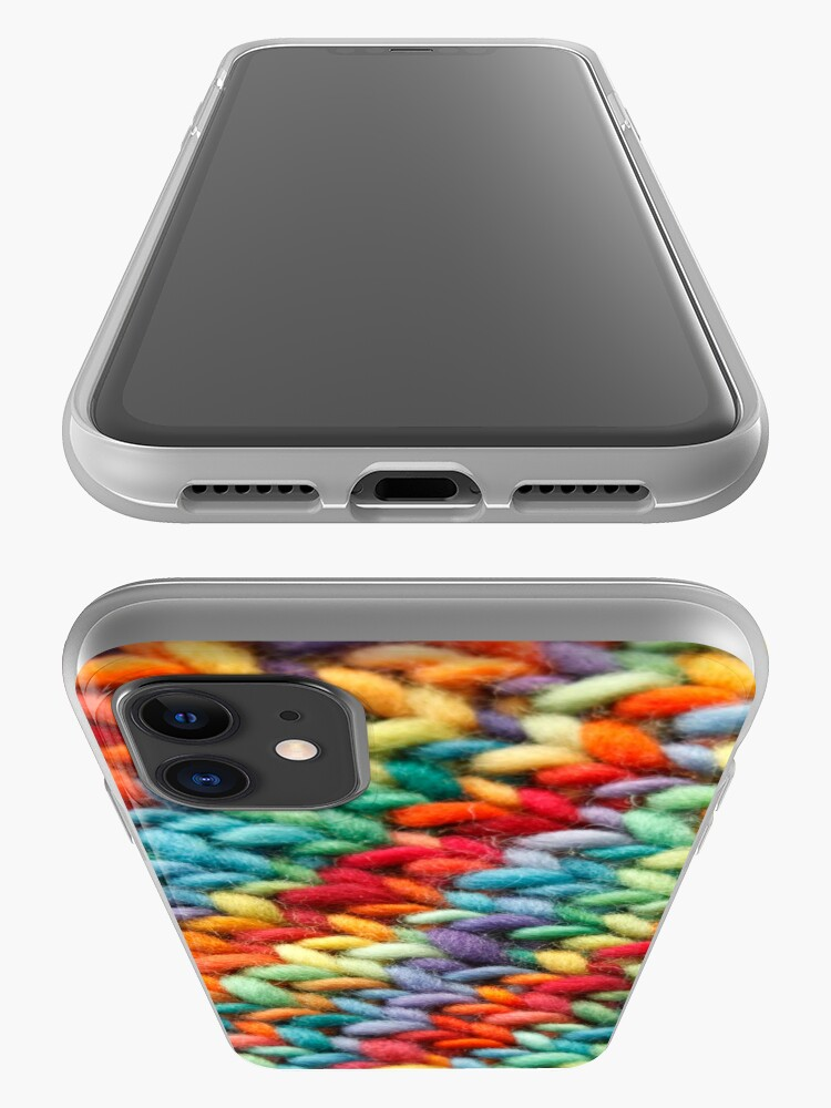 Alternate view of Knitting Rainbow fabric iPhone Case & Cover