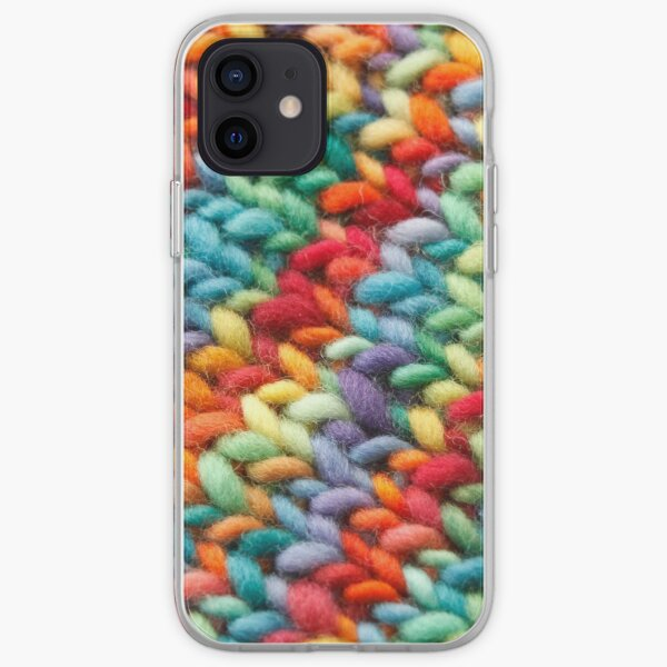 Knitting Rainbow fabric iPhone Soft Case