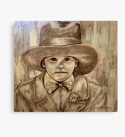 My Daddy's Hat Canvas Print
