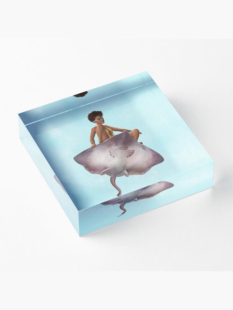 Alternate view of Skater Girl | Digital Illustration Acrylic Block