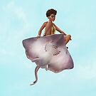 Skater Girl   Digital Illustration by Anthony James Rich