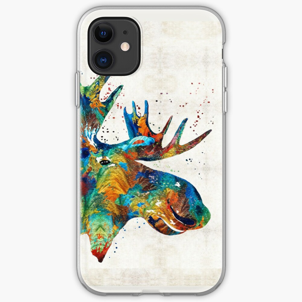 Colorful Lobster Art by Sharon Cummings iPhone 11 case