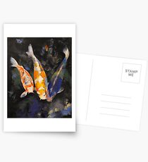 Three Koi Fish Postcards