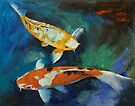 Sanke Koi Painting by Michael Creese
