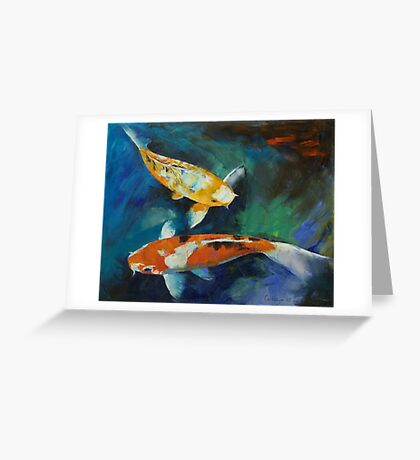 Sanke Koi Painting Greeting Card