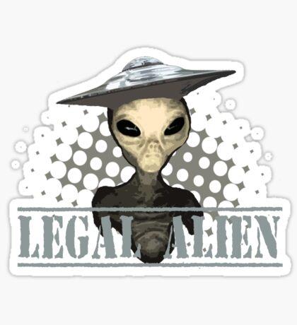 Alien t-shirt Sticker