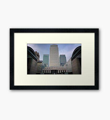 Citibank/HSBC/Barclays at Canary Wharf, London  Framed Print