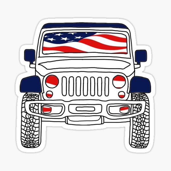USA Jeep Sticker