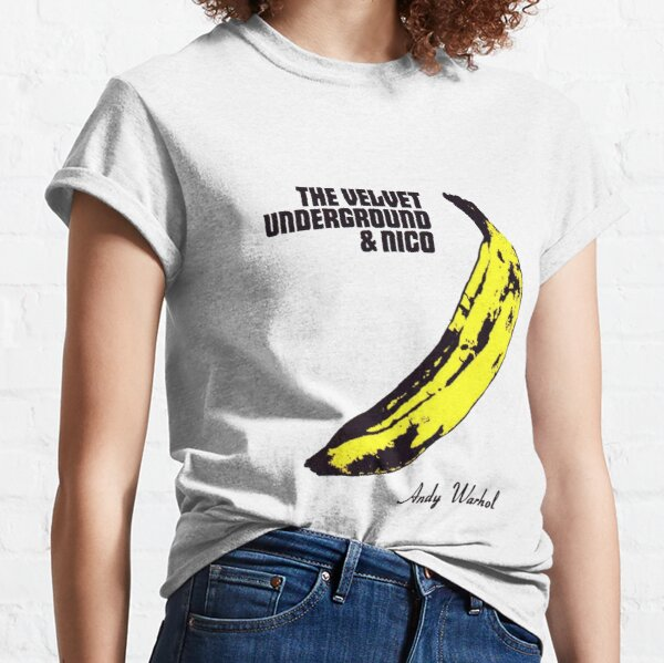 Andy Warhol's Velvet Underground famous banana design Classic T-Shirt