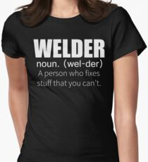 Funny Welder Definition T Shirt Women's Fitted T-Shirt