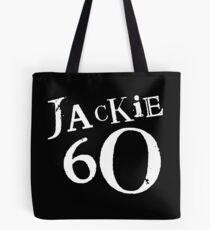 Jackie 60 Classic White Logo on Black Gear Tote Bag