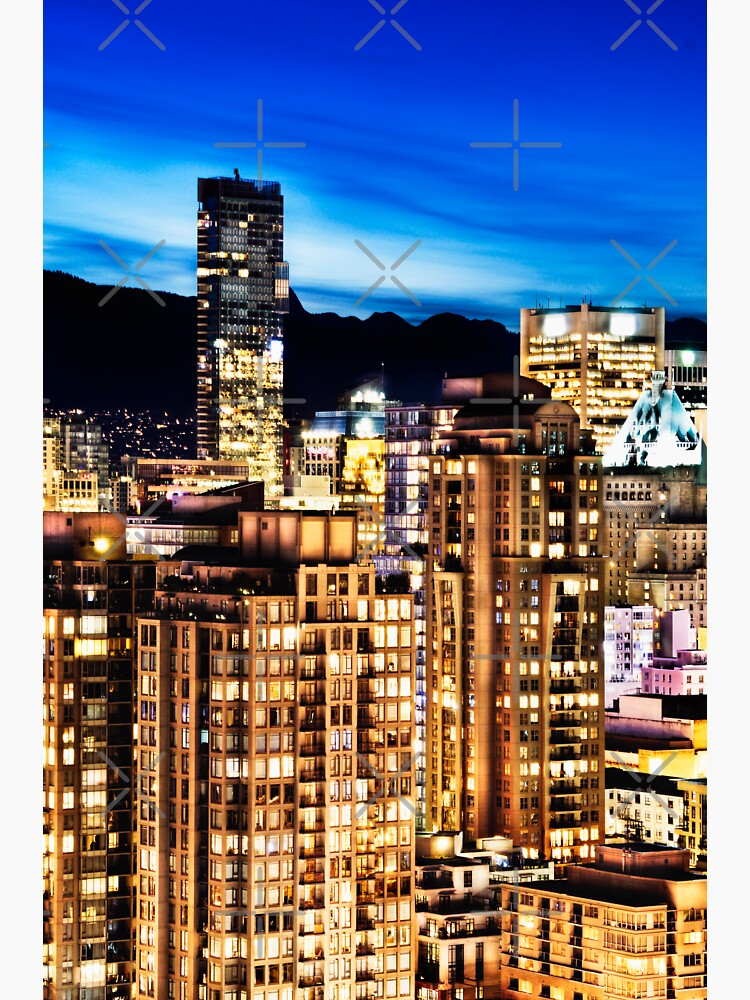 0576 Twilight ShangriLa Hotel and Vancouver Canada by neptuneimages