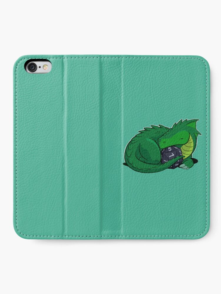 Alternate view of D20 Green Dragon iPhone Wallet