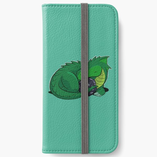 D20 Green Dragon iPhone Wallet