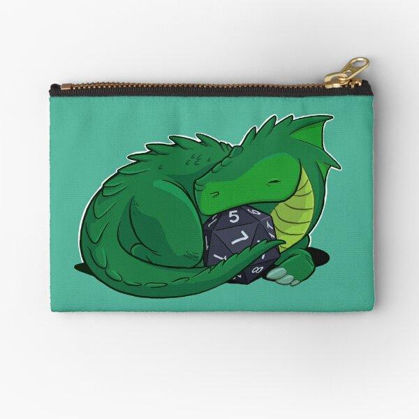 D20 Green Dragon Zipper Pouch