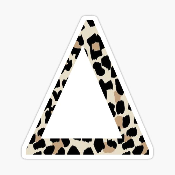 Cheetah Print Delta Sticker