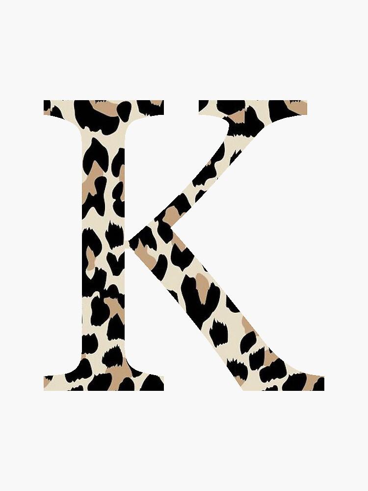 Kappa, K - Cheetah Print / Leopard Print by jessicaschaub