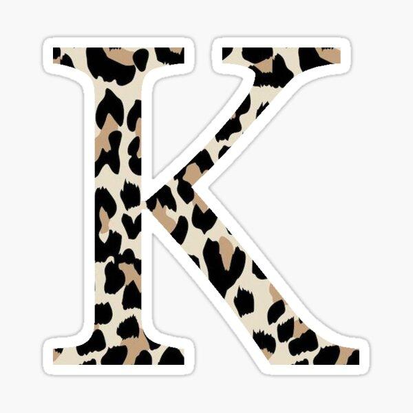Kappa, K - Cheetah Print / Leopard Print Sticker