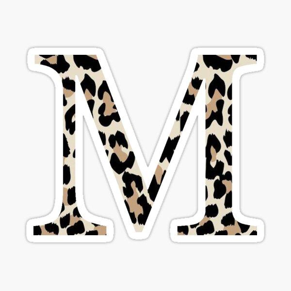 Mu, M - Cheetah Print / Leopard Print Sticker