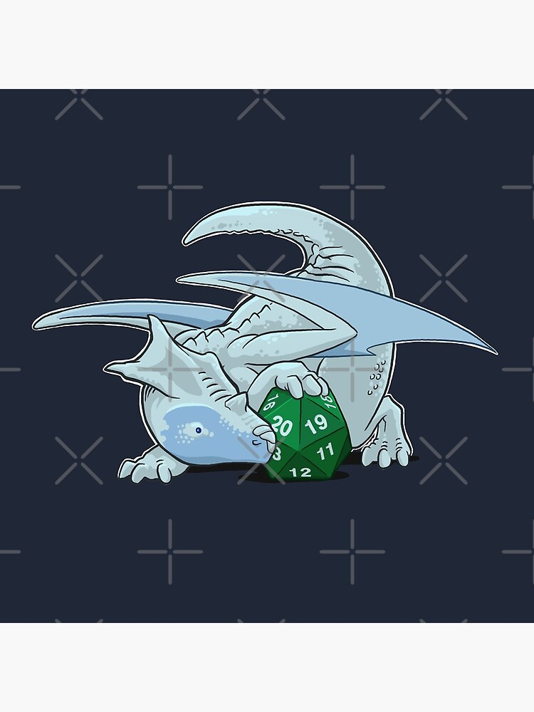D20 White Dragon by powersdesign