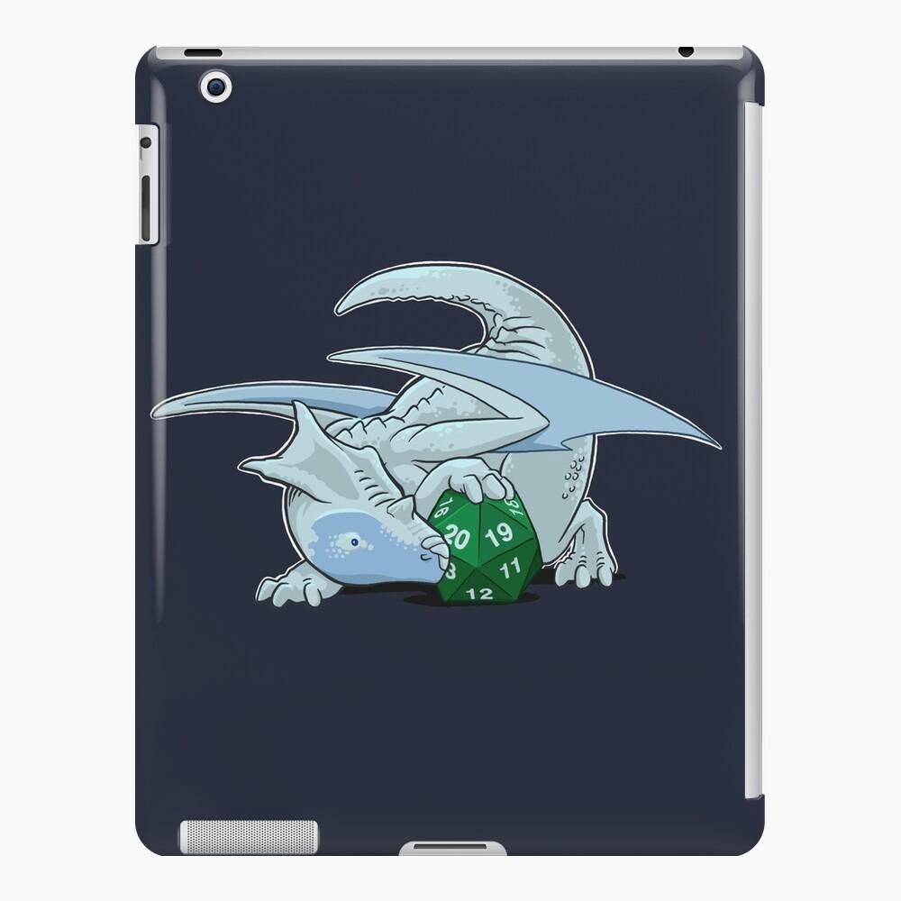 D20 White Dragon iPad Case & Skin