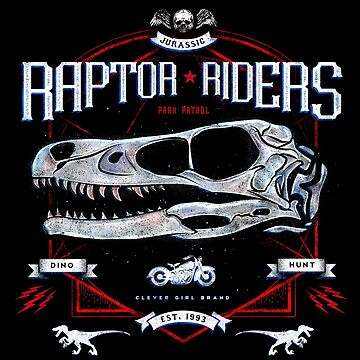 Jurassic World Raptor Riders Biker Insignia by barrettbiggers