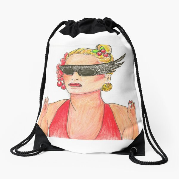 Overboard! With sunglasses Drawstring Bag