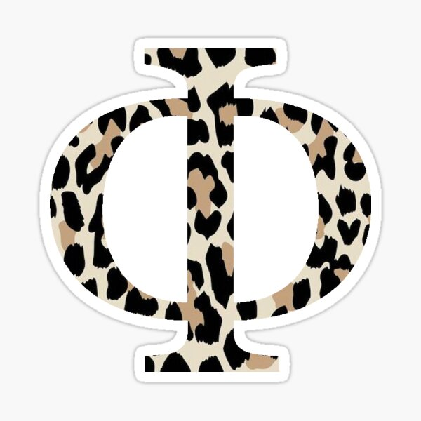 Cheetah Print Phi Sticker
