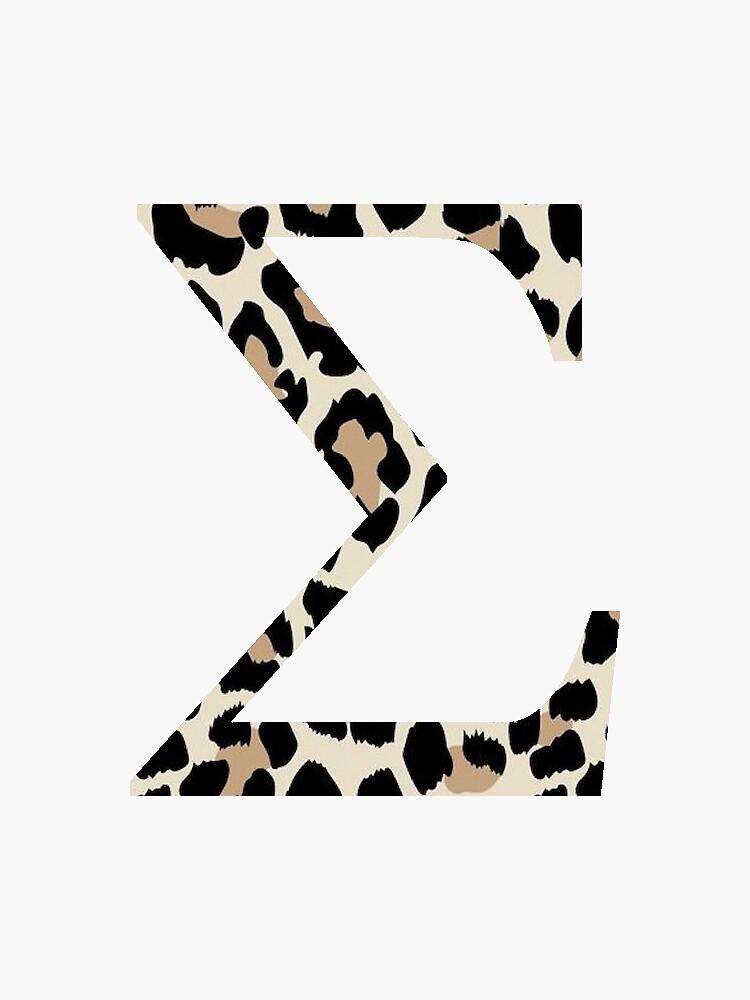 Sigma - Cheetah Print / Leopard Print by jessicaschaub