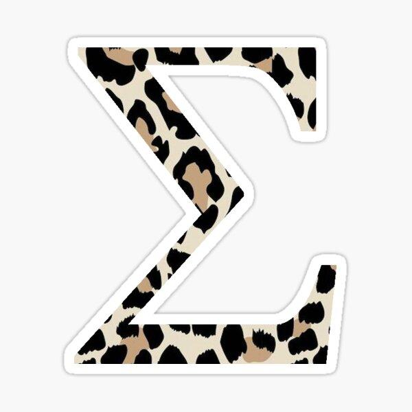 Sigma - Cheetah Print / Leopard Print Sticker