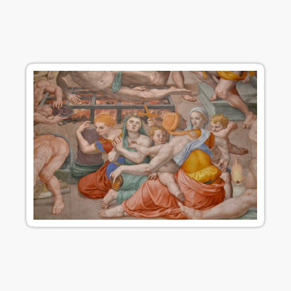 Martirio di San Lorenzo (détail)  Sticker