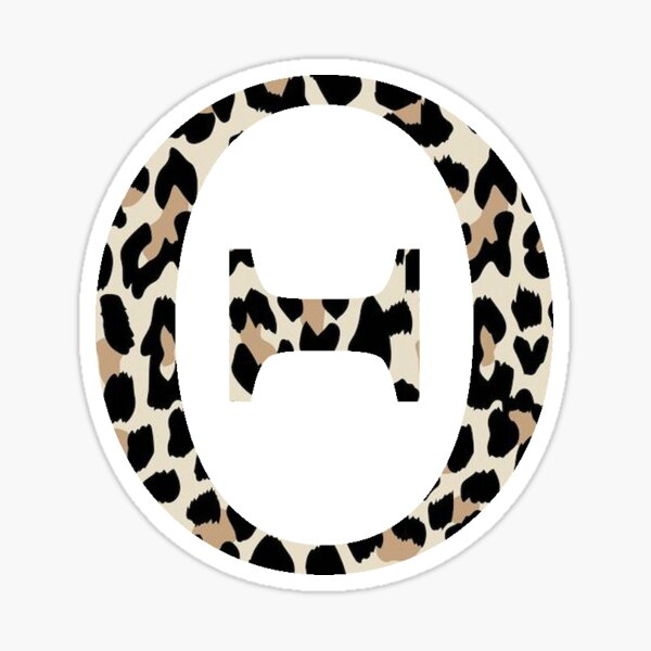 Cheetah Print Theta Sticker