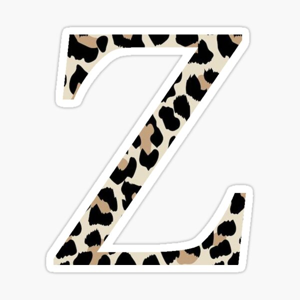 Cheetah Print Zeta Sticker