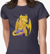 D20 Gold Dragon Women's Fitted T-Shirt