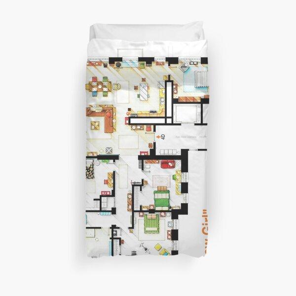 Floorplan of the loft / apartment from NEW GIRL Duvet Cover