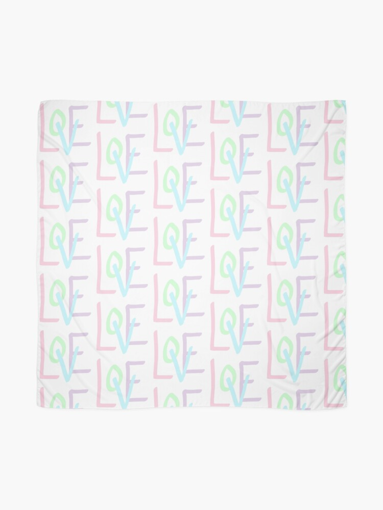 Alternate view of Love (Pastel Letters) Scarf