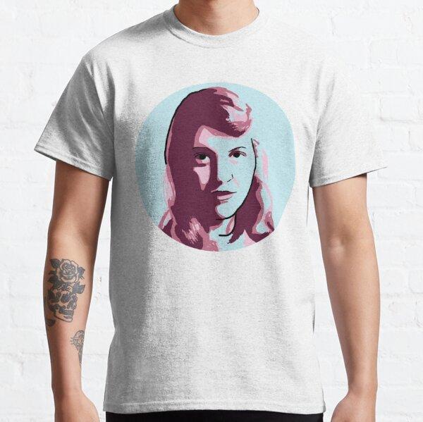 Sylvia Plath Blue Mauve Purple Pink Portrait Classic T-Shirt
