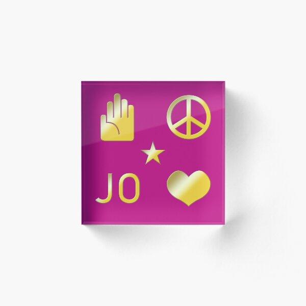 Jojo's Bizarre Adventure Pattern - Magenta Acrylic Block