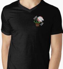 Plant Gang - Smash Bros. Piranha Plant (Black) Men's V-Neck T-Shirt