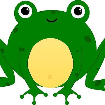 Cute Cartoon Pond Frog  by SharkaSplat