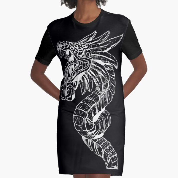 Quetzalcoatl Dragon  Graphic T-Shirt Dress