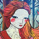 Little Red modern red portrait by Alicia Rogerson