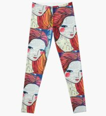 Little Red modern red portrait Leggings