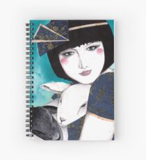 Portrait of a japanese inspired woman Spiral Notebook